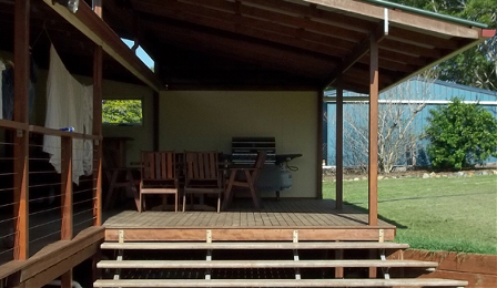 Relax under a Quality Timber Patio by Queensland Timber Decks.